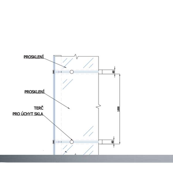 Konstrukce výtahových šachet 6 vytahy detail zaskleni kubik