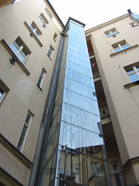 Stavba výtahu včetně venkovní konstrukce na Praze 1 1 vytahy kubik praha 1 stepanska1