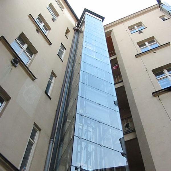Stavba výtahu včetně venkovní konstrukce na Praze 1 9 vytahy praha 1 stepanska
