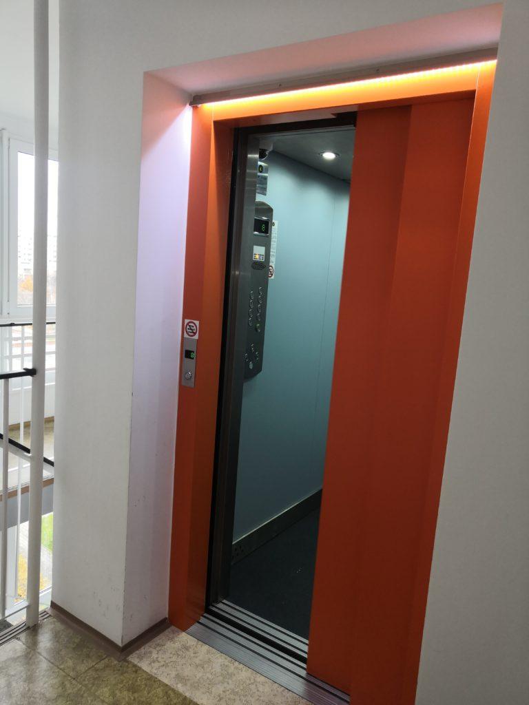 Přestavba výtahu na sídlišti - Praha 13, Volutová ulice 1 Volutová